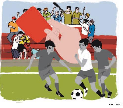 ¿Cómo deberían actuar los padres de los jugadores de fútbol?